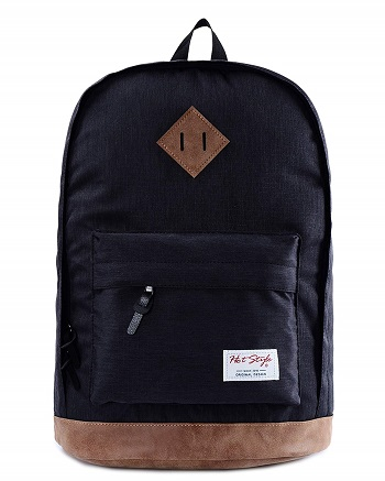 mochila vintage escolar para el colegio, para niños y llevar en la espalda, con bolsillo y cremallera